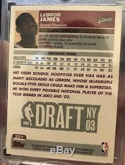2003-04 Lebron James Rookie Topps 1er Première Édition Sp Rc Non Auto Rare! Psa10
