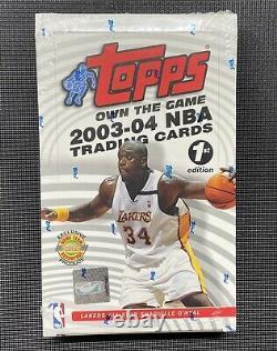 2003-04 Topps 1ère Édition Basketball Box Factory Scellé Lebron James Rc Année