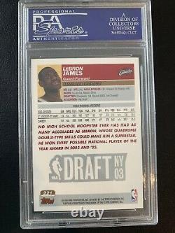 2003-04 Topps 1ère Édition Lebron James #221 Rare Rookie Rc Psa 9 Mint! Faible Pop