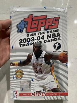 2003-04 Topps 1ère Première Édition Sealed Box. Super Rare. Lebron James Rc