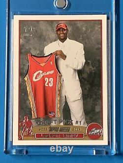 2003-04 Topps Lebron James Rookie 1ère Première Édition Sp Rc. Rare! Chaud