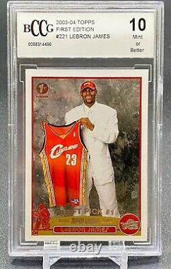 2003 Topps 1ère Édition Lebron James #221 Rookie Psa 10 Gem Mint