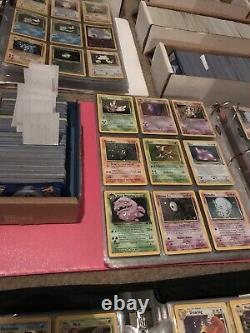 200 Lot Joué Original Vintage Rare Pokemon Cards Holo 1ère Édition Shadowless