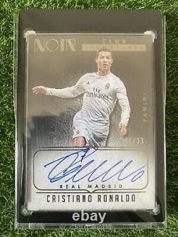 2016-17 Noir Soccer Cristiano Ronaldo Club Signatures #30/33
