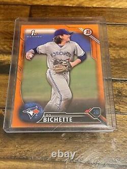 2016 1er Premier Bowman Bo Bichette Papier Orange /25 Non Chrome Blue Jays Non Auto