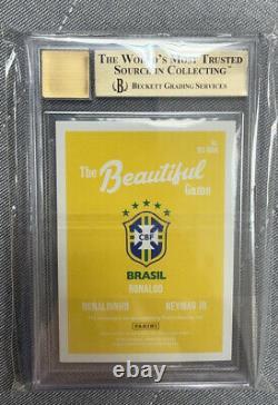 2018-19 Donruss Triple Auto Ronaldo Ronaldinho Neymar Jr #4/5 Gold Bgs 9.5/10