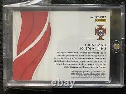 2018-19 Immaculé Soccer Cristiano Ronaldo Temps D'épanouissement Or #3/10 Auto