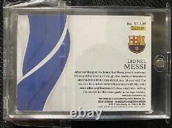 2018-19 Immaculée Soccer Lionel Messi Temps D'épanouissement Or #8/10 Auto Barcelone