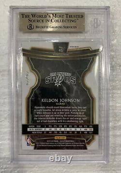 2019-20 Sélectionnez Keldon Johnson True Black Prizm Refractor Rc 1/1 Bgs 9.5 Pas Psa