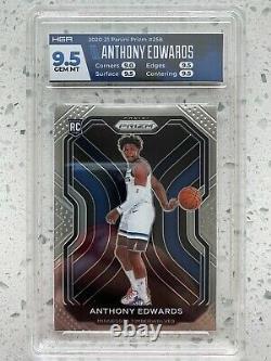 2020-21 Prizm Anthony Edwards #258 Hga 9.5 Rookie! Des Loups-bois. Égal À Psa 10