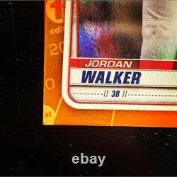 2020 Bowman Chrome 1ère Première Édition Jordan Walker Orange Refractor 11/25 Rookie