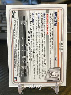 2020 Bowman Chrome Draft Spencer Torkelson Refracteur Auto /499 Rc Rookie First