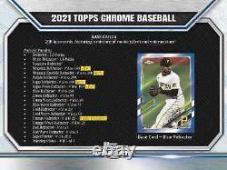 2021 Topps Chrome Baseball Hobby Box Nouvelle Marque Livraison De Priorité Gratuite