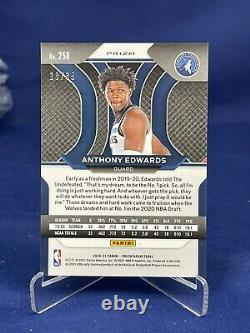 20-21 Prizm Basketball Fotl Rookie Blue Shimmer 13/35 Anthony Edwards Mint 10