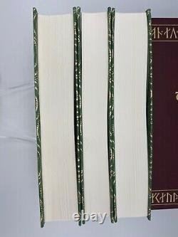 3v Folio Society Le Seigneur Des Anneaux Jrr Tolkien Collectors Edition Limitée