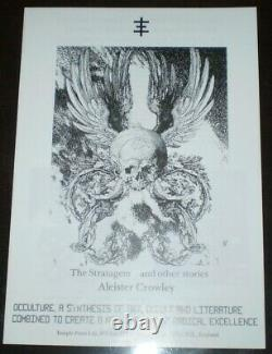 4 Temple Press Prospectus Lot, Occult Publications, Aleister Crowley, Aos, Topy