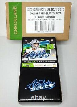 Absolue NFL Football Dollar Tree Gravity Feed 2020 Box 48 Packs Scelled Box