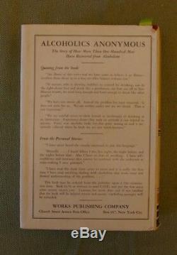 Alcooliques Anonymes 1ère Édition, 1ère Impression
