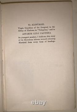 Aleister Crowley, Le Journal Intime D'un Médicament Fiend, 1923, D'abord Ed, Occultisme, Thélème
