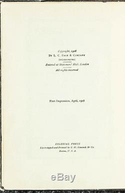 Anne Of Green Gables Peu Fréquent Brown Tissu 1st Impression, 1ère Édition 1908