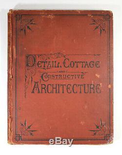 Antique 1873 Detail Cottage Architecture Constructive Maison Victorienne Plans Accueil