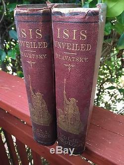 Blavatsky, Isis Dévoilé. Tout D'abord Édition Originale
