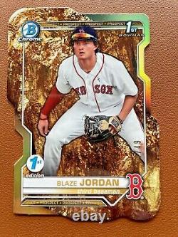 Blaze Jordan Gold Die Cut #d/49 Boston Red Sox 2021 Bowman 1ère Édition Rookie