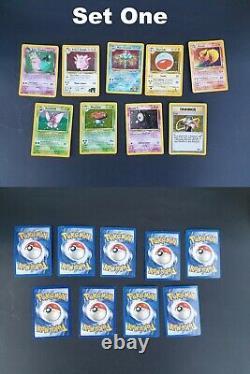 Bundle Originale Carte Pokemon Joblot Inc. 100% Set De Base Complete (900+ Cartes)