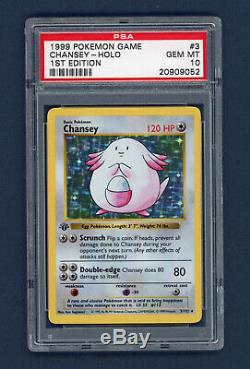 Chansey 1999 1er Pokemon Première Édition Shadowless De Base 3/102 Psa 10