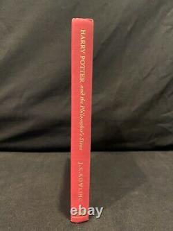 Deluxe 1ère Édition, 1ère Impression, Royaume-uni Harry Potter Et La Pierre Philosophale