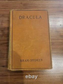 Dracula De Bram Stoker 1897 Première Édition Américaine Ny Grosset & Dunlap