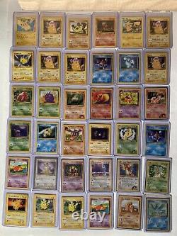 Énorme Original Pokemon Card Collection /lot Vintage 529 Cartes 72 Holo Doit Voir