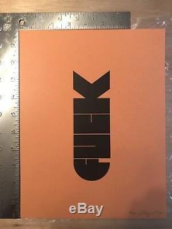 F-bomb Par Olly Moss Rare Signé Original Print (38/50) 1ère Édition