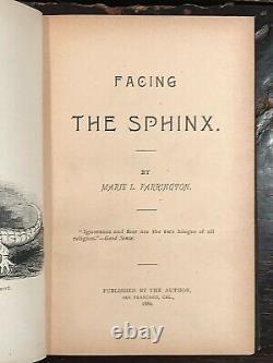 Face Au Sphinx Farrington, 1er 1889 Ancient Egypt Gods Symbols Numerology