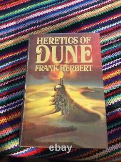 Frank Herbert, Signé, Inscrit! Hérétiques De Dune, 1ère Édition, Belle, Mylar