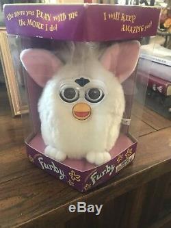Furby- 1998 Première Édition Originale Blanc Super Rare