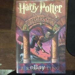Harry Potter Et La Sorcier Pierre 1er Ed 1er Impression Us Vg / Vg Livraison Gratuite