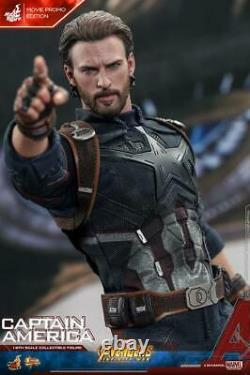 Hot Toys Ht Mms480 1/6 Captain America Action Figure Body 6.0 Outfits 12in. Nouveau