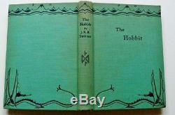 J. R. R. Tolkien, Bilbo Le Hobbit 1ère Édition, 2ème Imp, Original Jacket Unrestored