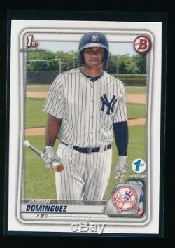 Jasson Dominguez 2020 Bowman 1ère Édition Card Yankees Rookie Rc Quantité Dispo