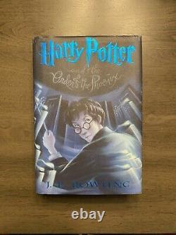 Jk Rowling Signé 1ère Édition 1ère Impression Harry Potter Ordre Du Phénix