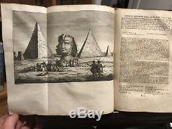 L'histoire Du Monde 1700s 39 Livres Anciens Nombreux En Cuir Set Cartes Dépliantes Egypte Rome