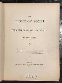 La Lumière De L'egypte Ou La Science De L'âme Et Stars T. Burgoyne 1er, 1889