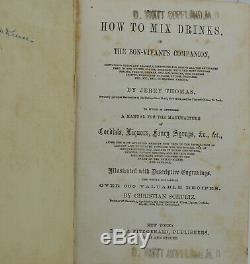 Le Bar-offres Guide Ou Comment Mélanger Les Boissons Jerry Thomas __gvirt_np_nn_nnps<__ 1er Première Édition 1862