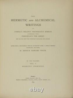 Le Grand Paracelsus / Écritures Hermétiques Et Alchimiques D'aureolus 1er Ed 1894