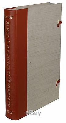 Les Aventures D'alice Au Pays Des Merveilles Signé Par Salvador Dali 1969 Portefeuille Limitée