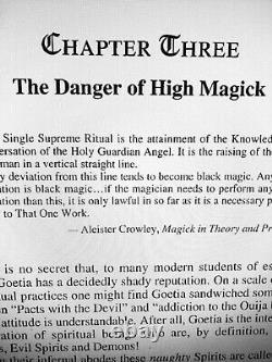 Livre Antique Occulte Noir Magie Rare Manuscrit Ésotérique Goetia Aleister Crowley