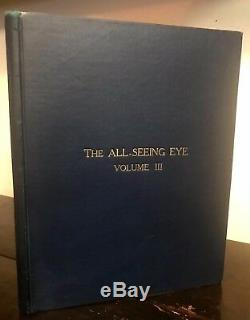 Manly P. Hall, Le Clairvoyant Oeil Vol. III Questions 1-21 Ed. M. P. Hall 1926 Scarce