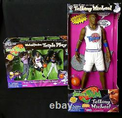 Michael Jordan Space Jam Movie 15 Parler Avec Triple Play Box Set 1996