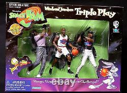 Michael Jordan Space Jam Movie 15 Talking Figure + Triple Play Box Set 1996 Wb